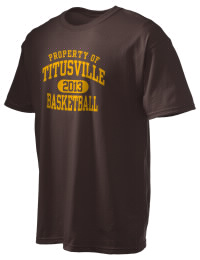 This custom Titusville High School Rockets crewneck t-shirt with a seamless collar turns a classic into an ultra comfortable apparel choice. Customize this t-shirt with your favorite Rockets design and personalize with your Titusville High School Rockets year. Choose your custom design for your tee and wear this customized t-shirt proudly.