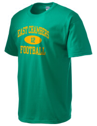 This custom East Chambers High Buccaneers crewneck t-shirt with a seamless collar turns a classic into an ultra comfortable apparel choice. Customize this t-shirt with your favorite Buccaneers design and personalize with your East Chambers High Buccaneers year. Choose your custom design for your tee and wear this customized t-shirt proudly.