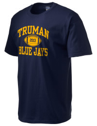 This custom Truman High School Blue Jays crewneck t-shirt with a seamless collar turns a classic into an ultra comfortable apparel choice. Customize this t-shirt with your favorite Blue Jays design and personalize with your Truman High School Blue Jays year. Choose your custom design for your tee and wear this customized t-shirt proudly.